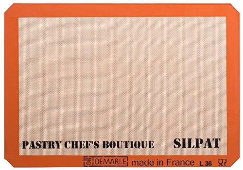 Sasa Demarle Silpat Premium Non-Stick Silicone Baking Mat Big Sheet Pan Size 23 Sheet Pan for a 15x 21 Sheet Pan - 1358x 195 - by Pastry Chefs Boutique