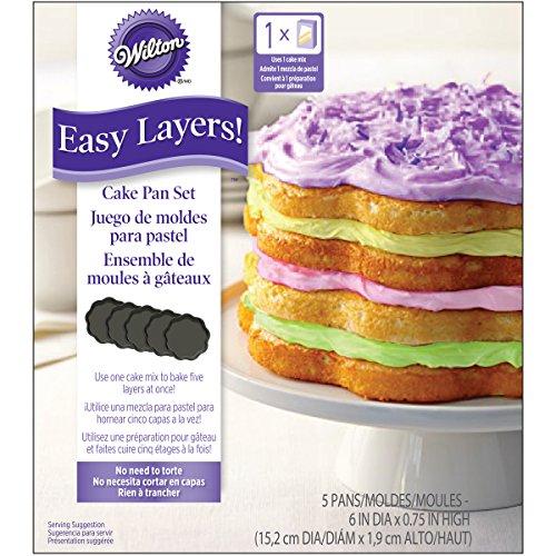 Wilton W4323 Easy Layers Cake Pans 4Pkg - Scalloped