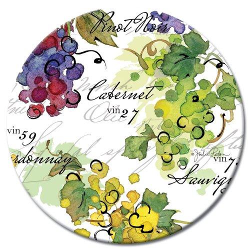 CounterArt Lazy Susan Glass Serving Plate Vin 27