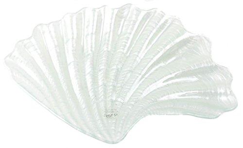 SPLIT P Set of Glass Shell Serving Plates - 3 Designs