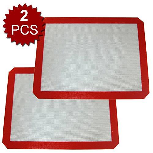 Aspire 2Pcs Silicone Baking Mat Nonstick Cookie Sheet Liner for Bake Pans Rolling - Large