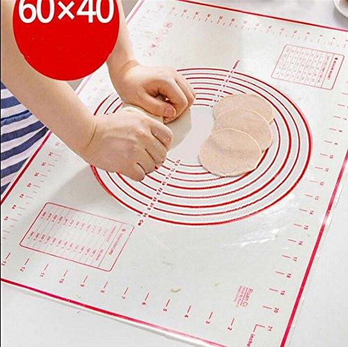UChic 40x60cm Rolling Dough Non-stick Mat Oven Silicone Mat Pastry Tools Baking Liner Pad Kneading Dough Baking Mat Dumpling Sheet