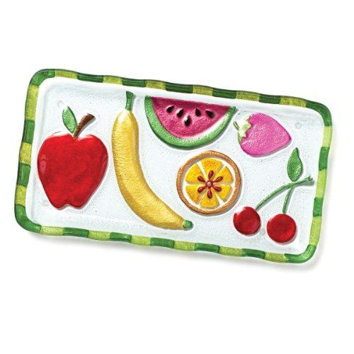 DEMDACO Silvestri Glass Fusion Fruit Platter