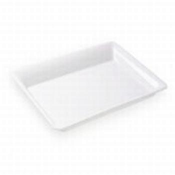 1 X White Plastic Serving Tray Rectangular 10 x 8