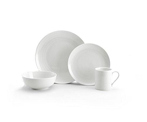 Mikasa Cheers White 16 Piece Dinnerware Set Service for 4