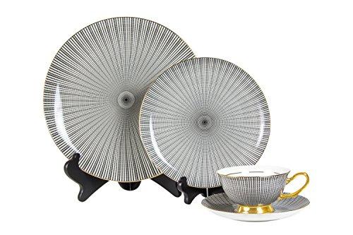 Fine China Dinnerware Set  4 Piece  Barchesco Collection