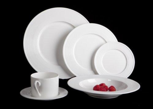 Mikasa Ridge 24 Piece Bone China Dinnerware Set Service for 4