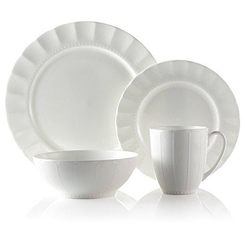 Roscher 32-piece Symphony Bone China Dinnerware Set - White