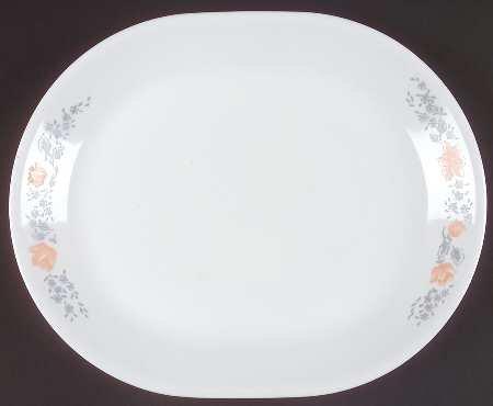 Corning Apricot Grove 12 Oval Serving Platter Fine China Dinnerware