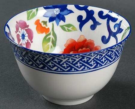 Lauren Ralph Mandarin-Blue Condiment Bowl Fine China Dinnerware