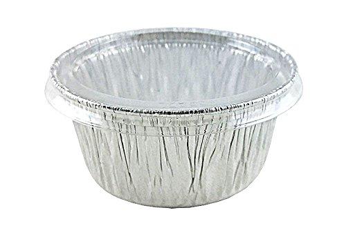 50 Set Handi-Foil 4 oz Aluminum Muffin Cupcake Ramekin Cups wClear Lid Disposable Tins