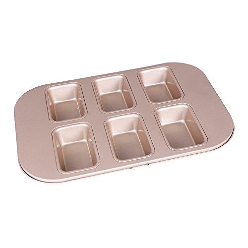 Webake 6-Cavity Non-stick Loaf Pan Cupcake Molds Baking Pan - Rectangle