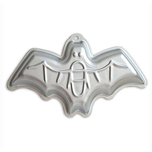 WJSYSHOP 12 Inch Bat Shaped Aluminum 3D Cake Mold Baking Mould Tin Cake Pan for Halloween Party - Bat