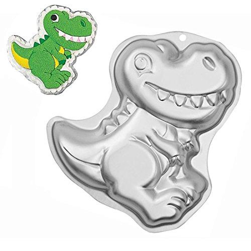 WJSYSHOP 12 Inch Dinosaur Shaped Aluminum 3D Cake Mold Baking Mould Tin Cake Pan - Dinosaur