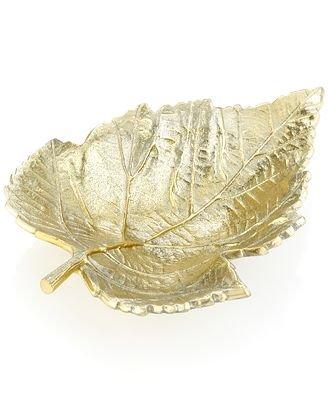 Martha Stewart Collection Serveware Park Leaves Gold 9 Inch Bowl