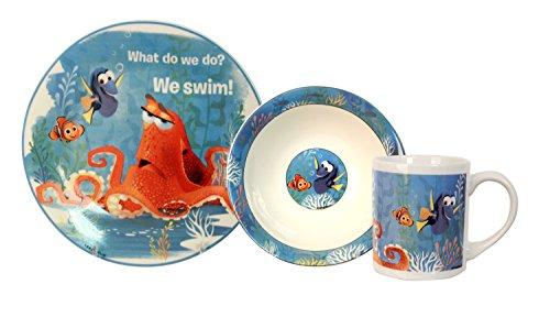 Disney 3 Piece Finding Dory Ceramic Dinnerware Set Multicolor