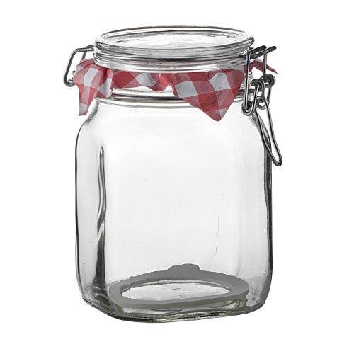 Bormioli Rocco Fido Clear Jar, 33-3/4-ounce