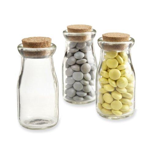 """Kate Aspen """"vintage"""" Milk Favor Jar, Set Of 12"""