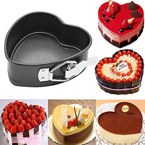 Heart Shaped Cake Mold Botrong Cake Tin Non Stick Spring Form Loose Base Baking Pan Tray