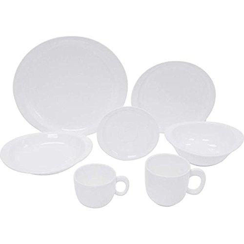Nikita 28pc White Porcelain Dinnerware Set