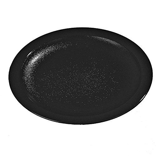 Carlisle 100 in Diameter Polycarbonate Narrow Rim Commercial Dinnerware Plate Black Case of 48