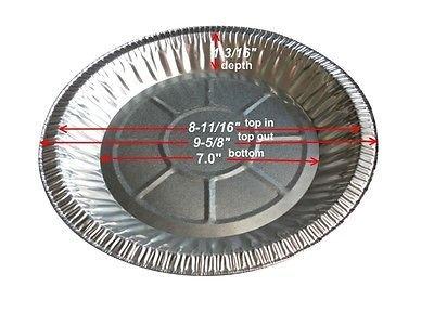 Durable Packaging 2600-40 10 Deep Pie Pan 9-58 x 1-316 120 Height 960 Width 960 Length Pack of 500