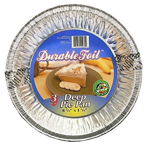 Durable Packaging D21030 Deep Pie Pan 8-14 x 1-14 Pack of 36