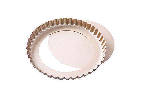 Bakerdream Tart Pan Removable Bottom 8 Inch Quiche Pan Fluted Tart Pan 1
