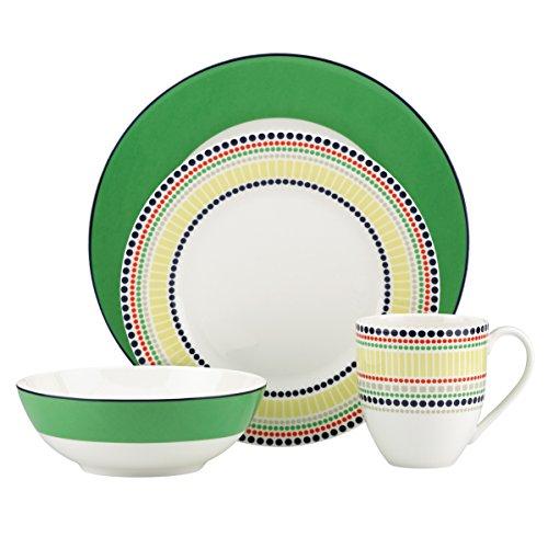 Kate Spade New York Hopscotch Drive Green Dinnerware 4-Piece Place Setting 836100