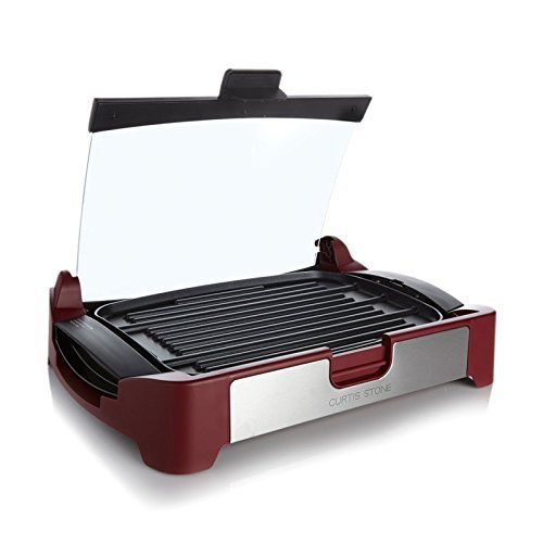 Curtis Stone Nonstick Reversible GrillGriddle with Glass Lid