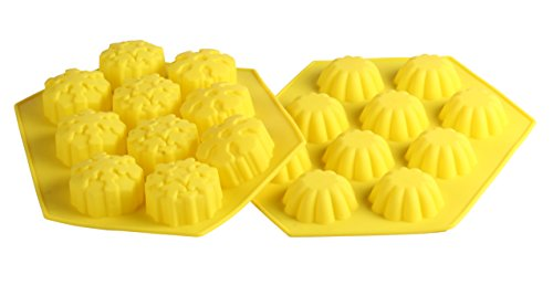 SKYLINK Cake Mold Christmas Chocolate Silicone Mold Heat Resistant Mini Baking Mold Yellow
