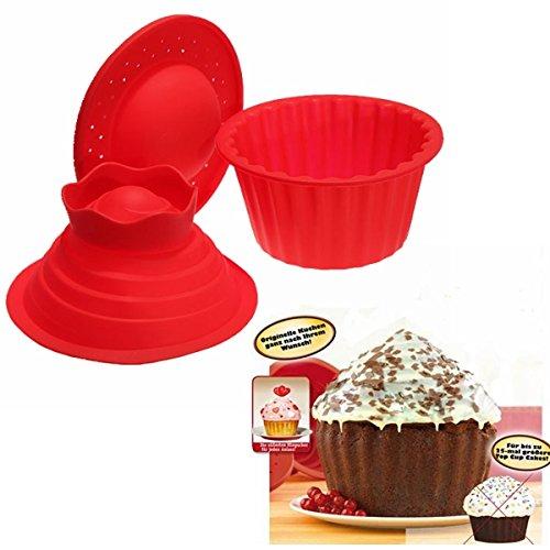 3Pcs Big Top Cupcake Pan Giant Silicone Molds Baking Set