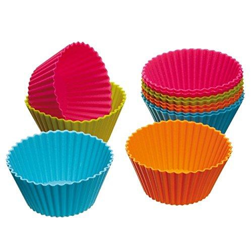 Bestpriceam Kitchen Craft Colourworks Silicone Cupcake Cases Pack of 12