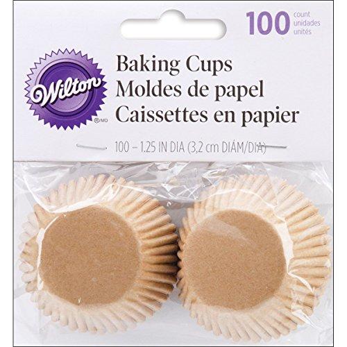 Wilton Unbleached Mini Baking Cups 100 Count