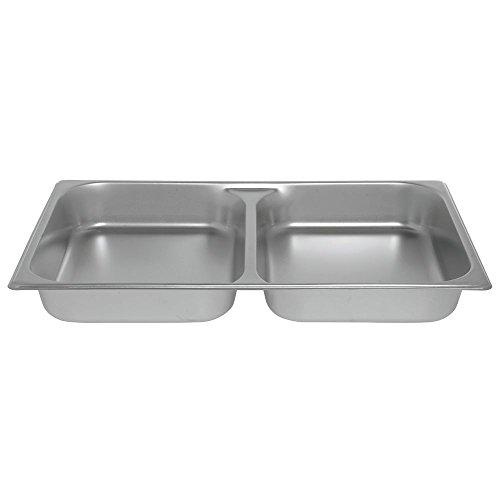 HUBERT Full Size 24 Gauge Stainless Steel Divided Steam Table Pan - 2 12D