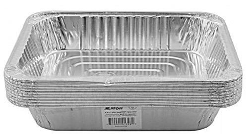 Jetfoil Aluminum Foil Steam Table Pans Half Size Deep 9x13 Pans 10 Pack