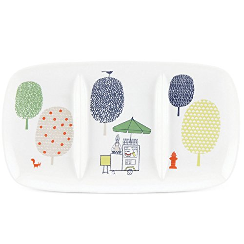 Kate Spade New York Hopscotch Drive About Town White Porcelain 3-Part Divided Serving Tray by Lenox 135