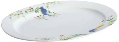 Paula Deen Dinnerware 10-Inch x 14-Inch Porcelain Stoneware Oval Platter Spring Medley