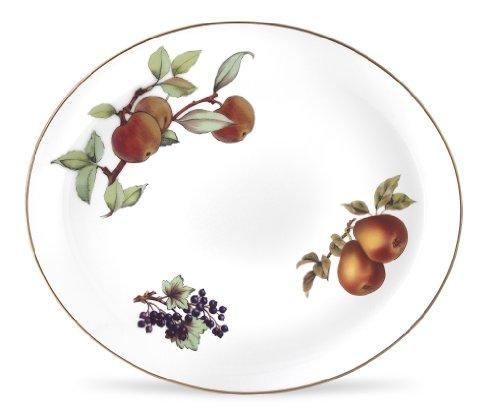 Royal Worcester Evesham Gold Porcelain 15-by-12-inch Oval Platter