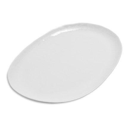Sur La Table Oval Hammered Porcelain Platter HL192050  White