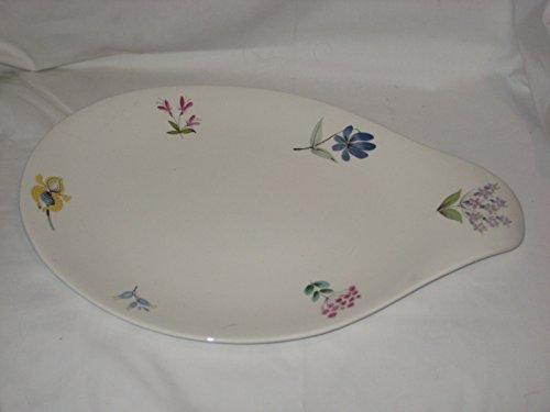 Vintage Hallcraft Eva Zeisel Bouquet Flowers Porcelain Platter Plate