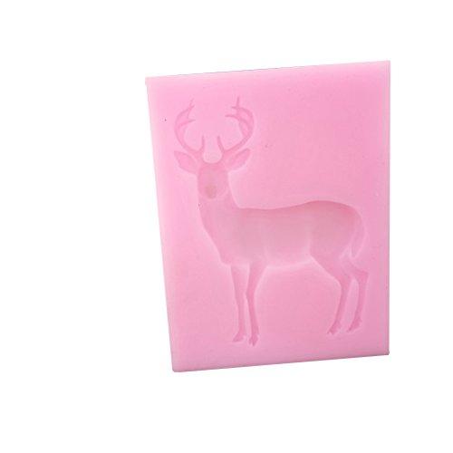 Kerocy DIY Deer Cut Sugar Cake Silicone Mold Christmas Creative Cute Chocolate Baking Tool