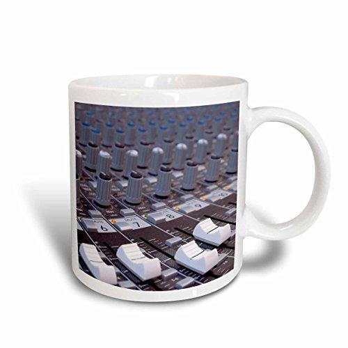 3dRose mug_155066_1 Audio Mixer Board Mixing Engineer Knobs Sliders Slider Buttons Studio Recording Ceramic Mug 11-Ounce