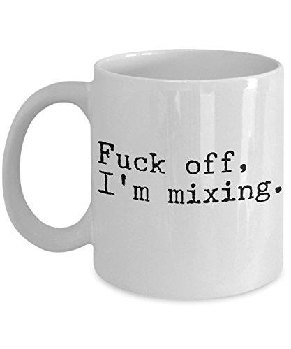 DJ Coffee Mug - White Ceramic 11 oz Tea Cup - Funny Sarcastic Unique Perfect Gift Ideas for Audio Mixer Engineer Deejay Sound Editor Studio Recording - Musical Musician Music Job - Im Mixing