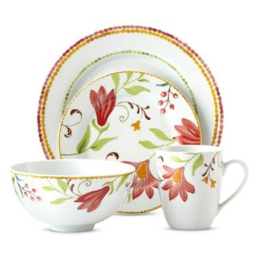 OneidaItalian Cypress 16-pc Floral Dinnerware Set