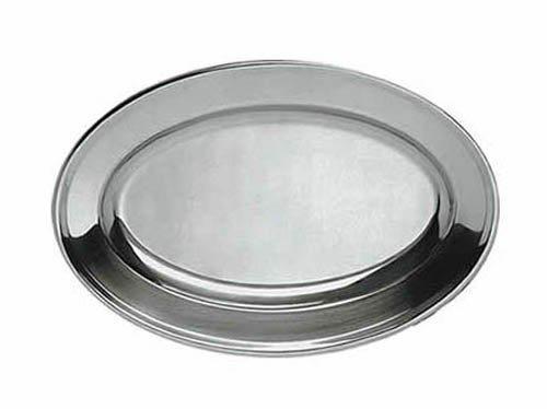 Update International OP-14 13 34 x 9-12 Oval Stainless Steel Platter by Update International
