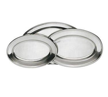 Update International OP-18 17 34 x 11 12 Oval Stainless Steel Platter