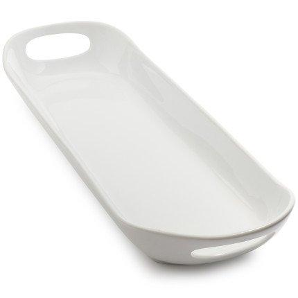 Sur La Table Porcelain Bread Platter H0P2234  White