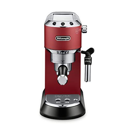 DeLonghi America Inc EC685R Dedica Deluxe 15-Bar Pump Espresso Machine Red