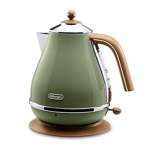 Delonghi Electric kettle 10L「ICONA Vintage Collection」 KBOV1200J-GR Olive green【Japan Domestic genuine products】